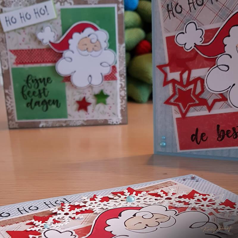 Kerstkaart-kerstman-serie